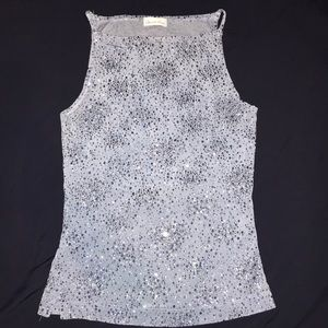 Charlotte Russe Baby blue glitter top
